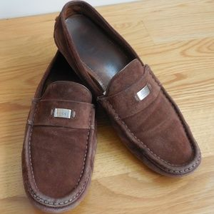 $595~GUCCI~Brown Suede Driving Mocs~Loafer~11.5/12